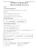 Đề cương ôn thi HK 2 môn Toán lớp 10 - THPTChuyênNguyễnChíThanh