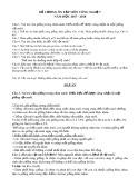 Đề cương ôn thi HK 2 môn Công nghệ lớp 7 năm 2017-2018