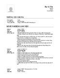 Mẫu đơn xin việc dành cho Kế toán trưởng