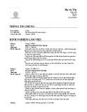 Mẫu đơn xin việc dành cho Kế toán công nợ