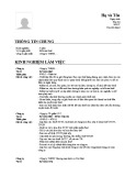 Mẫu đơn xin việc dành cho Kế toán thuế