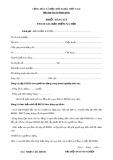 Mẫu đơn đăng ký bảo hiểm xã hội
