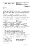 Đề thi HK 2 môn Vật lí lớp 10 năm 2014-2015 - THPT Hùng Vương - Mã đề 357