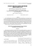 Xác định các thông số để xây dựng quy trình công nghệ chưng cất tinh dầu lá tía tô
