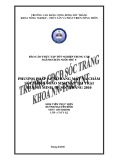 Báo cáo thực tập tốt nghiệp trung cấp ngành chăn nuôi thú y: Phương pháp ấp nở bằng máy và chăm sóc đàn gà sao sinh sản tại trại Huỳnh Minh, TP. Sóc Trăng 2010