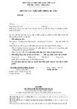 Mẫu đơn xin xác nhận đối tượng ưu tiên