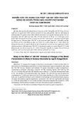 """Nghiên cứu tác dụng của pháp """"GĐ-103"""" đến thay đổi nồng độ dioxin trong máu người phơi nhiễm chất da cam/dioxin"""
