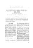 Hệ số khuếch tán Cl- và các dạng nồng độ của Cl- trong bê tông