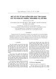 Một số yếu tố ảnh hưởng đến hoạt tính quang xúc tác phân hủy phenol trên màng TiO2 / dế kính