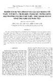 Nghiên cứu sự tạo liên hợp ion của vonfram (vi) với thuốc thử metyl tím 2B (M2B) trong môi trường nước- axeton bằng phương pháp triết trắc quang và khả năng ứng dụng vào phân tích