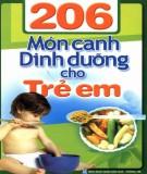 206 món canh dinh dưỡng cho trẻ em: phần 1