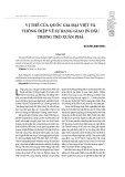 Vị thế của quốc gia Đại Việt và thông điệp về sự bang giao in dấu trong trò xuân phả