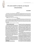 Về làng nghề và thợ đá An Hoạch (Thanh Hóa)