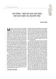 Lối sống - một di sản văn hóa phi vật thể của người Việt