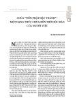 """Chùa """"tiền phật hậu thánh"""" - Một dạng thức chùa đền thờ độc đáo của người Việt"""