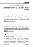 trung Một số xu hướng mới trong truyền thông - Marketing du lịch