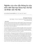 Nghiên cứu nhu cầu thông tin của sinh viên Đại học khoa học Xã hội và Nhân văn Hà Nội