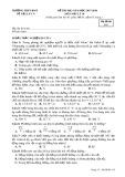 Đề thi HK 2 môn Vật lí lớp 10 - THPT Buôn Ma Thuột - Mã đề 115