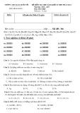 Đề kiểm tra HK 2 môn Hóa học lớp 10 năm 2016-2017 - THPT Hàm Thuận Bắc - Mã đề 346