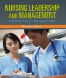 nursing leadership and management - for patient safety and quality care: part 2