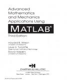 Ebook Matlab - Advanced mathematics and mechanics applications using MATLAB (3/E): Part 1