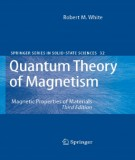 quantum theory of magnetism - magnetic properties of materials (3/e): part 1