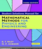 student solutions manual for mathematical methods for physics and engineering (3/ed): part 2