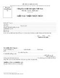 Mẫu giấy xác nhận nhân thân