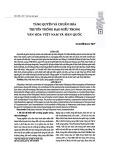 Tăng quyền và chuẩn hóa truyền thông đạo hiếu trong văn hóa Việt Nam và Hàn Quốc