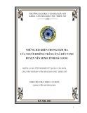 Tóm tắt Khóa luận tốt nghiệp khoa Văn hóa dân tộc thiểu số: Những bài khèn trong đám ma của người Hmông Trắng ở xã Hữu Vinh, huyện Yên Minh, tỉnh Hà Giang