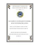 Tóm tắt Khóa luận tốt nghiệp khoa Văn hóa dân tộc thiểu số: Nạn tảo hôn của người Dao Đỏ ở xã Thái Học, huyện Nguyên Bình, tỉnh Cao Bằng