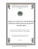 Tóm tắt Khóa luận tốt nghiệp khoa Văn hóa dân tộc thiểu số: Phong tục cưới xin của Người Mường ở xóm Mơ, Xã Hiền Lương, huyện Đà Bắc, tỉnh Hòa Bình