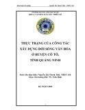 Tóm tắt Khóa luận tốt nghiệp khoa Văn hóa dân tộc thiểu số: Thực trạng của công tác xây dựng đời sống văn hoá ở đảo Cô Tô, tỉnh Quảng Ninh