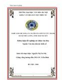Tóm tắt Khóa luận tốt nghiệp khoa Văn hóa dân tộc thiểu số: Nghề làm chè (trà) của người Sán Chí ở xã Tức Tranh, huyện Phú Lương, tỉnh Thái Nguyên