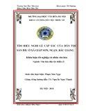 Tóm tắt Khóa luận tốt nghiệp khoa Văn hóa dân tộc thiểu số: Tìm hiểu nghi lễ cấp sắc của dân tộc Sán Dìu ở xã Giáp Sơn, Ngạn, Bắc Giang