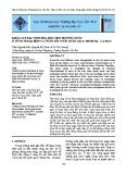 Khảo sát đặc tính hóa học môi trường nước ở vùng ngoại biên và vùng lõi vườn Quốc gia U Minh Hạ - Cà Mau