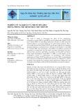 Nghiên cứu xạ khuẩn và thuốc hóa học trong phòng trừ bệnh thán thư trên ớt
