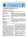 Góp phần khảo sát thành phần hóa học của vỏ cây mắm ổi (Aviceennia Marina)
