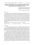 Đánh giá tình hình đăng ký giao dịch bảo đảm bằng quyền sử dụng đất và tài sản gắn liền với đất tại quận Cẩm Lệ, thành phố Đà Nẵng giai đoạn 2011 – 2016
