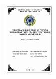 Tóm tắt Khóa luận tốt nghiệp khoa Thư viện - Thông tin: Thực trạng hoạt động và phương hướng phát triển của Thư viện Trường Đại học Nguyễn Trãi