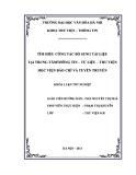 Tóm tắt Khóa luận tốt nghiệp khoa Thư viện - Thông tin: Tìm hiểu công tác bổ sung tài liệu tại Trung tâm Thông tin – Tư liệu – Thư viện Học viện Báo chí và Tuyên truyền