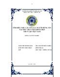 Tóm tắt Khóa luận tốt nghiệp khoa Thư viện - Thông tin: Tìm hiểu nhu cầu tin của người dùng tin tại Thư viện Viện Khoa học Thủy lợi Việt Nam
