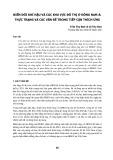 Biến đổi khí hậu và các khu vực đô thị ở Đông Nam Á: Thực trạng và các vấn đề trong tiếp cận thích ứng