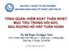Bài giảng Tổng quan: Kiểm soát thân nhiệt mục tiêu trong hồi sức sau ngưng hô hấp tuần hoàn - TS. Phạm Thị Ngọc Thảo