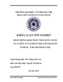 Tóm tắt Khóa luận tốt nghiệp khoa Xuất bản - Phát hành: Hoạt động khai thác mặt hàng sách của Công ty Cổ phẩn Phát hành sách TP.HCM – chi nhánh Hà Nội