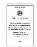 Tóm tắt Khóa luận tốt nghiệp khoa Xuất bản - Phát hành: Ứng dụng Marketing trong kinh doanh XBP tại Công ty CP phát hành sách TP Hồ Chí Minh – FAHASA giai đoạn 2010 - 2012