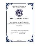 Tóm tắt Khóa luận tốt nghiệp khoa Xuất bản - Phát hành: Hoạt động tiêu thụ XBP của Công ty cổ phần PHS Hồ Chí Minh FAHASA – chi nhánh tại Hà Nội năm 2010-2011