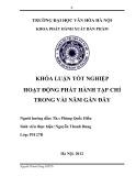 Tóm tắt Khóa luận tốt nghiệp khoa Xuất bản - Phát hành: Hoạt động phát hành tạp chí trong vài năm gần đây
