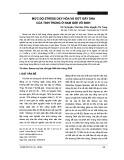 Mức độ stress oxy hóa và đứt gãy DNA của tinh trùng ở nam giới vô sinh