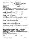 Đề kiểm tra HK 1 môn tiếng Anh lớp 7 năm 2017-2018 - Phòng GD&ĐT Cao Lãnh - Mã đề M701